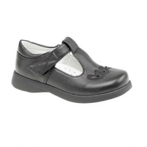 C732A Girls Heart T-bar Shoes