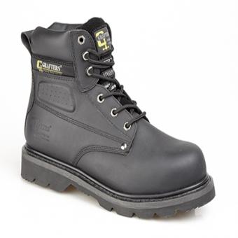 Grafter Saftey Steel Toe Boot Black