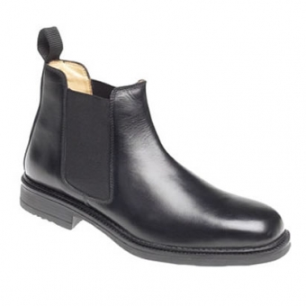 M278A Black leather Gusset Boot