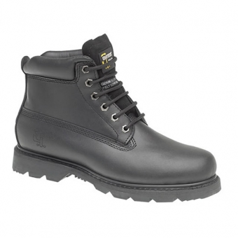 M30A 6 Eye Padded Collar Black Boots