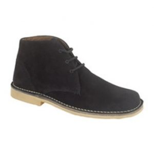 M378AS Black Suede Desert Boots