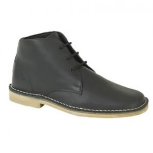 M378GA Waxy Black Leather Desert Boots