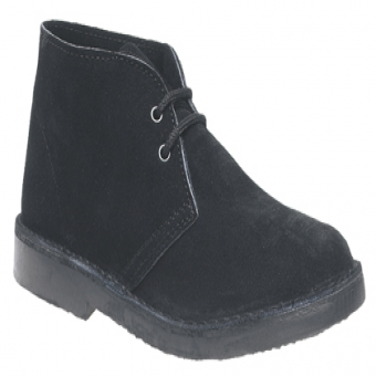 M400 Unisex Black Suede Leather 2 Eye Desert Boots