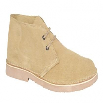 M400 Unisex Camel Suede Leather 2 Eye Desert Boots