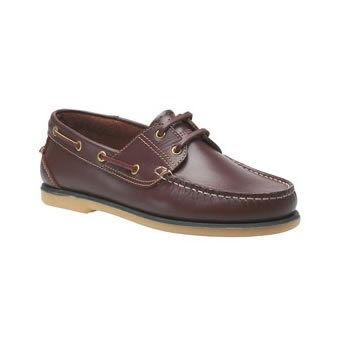 M551B Brown Leather Boat Shoe