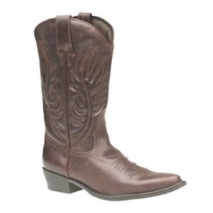 M699B Mens Brown Leather Cowboy boots