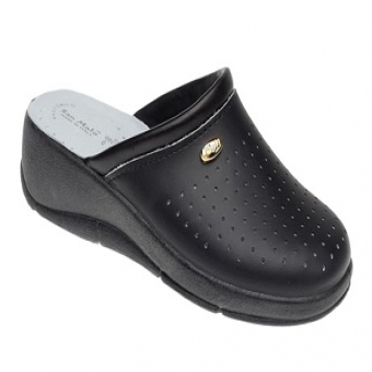 San Malo black padded sole kitchen clog