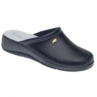 San Malo navy padded sole kitchen clog