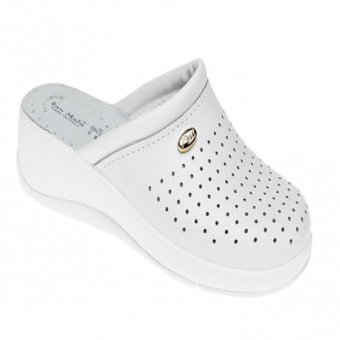 San Malo white padded sole kitchen clog
