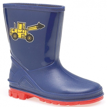 W204C Boys Tractor Wellington Puddle Boots