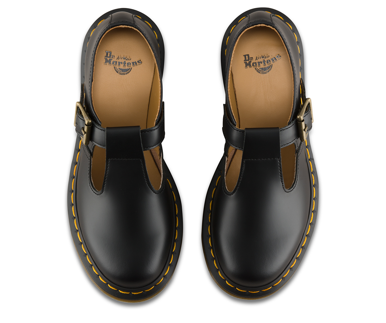 Dr Martens Girls T Bar Shoe Black Size