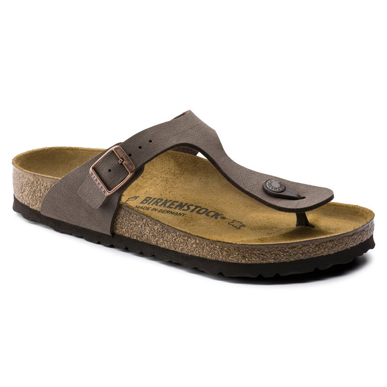 f522ed83c8e Ladies Birkenstock Gizeh Birko-Flor Nubuck Mocha - Shoe Shuffle