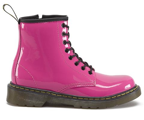 f5d25abfc096 Dr Martens Kids Delaney Hot Pink Patent Boots - Shoe Shuffle