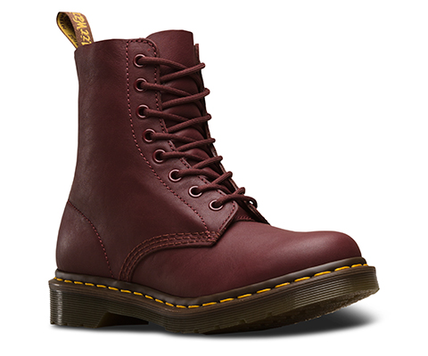 Dr Martens Pascal 1460z Cherry Red Virginia Soft Leather