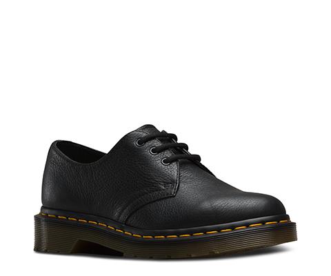 Dr Martens Ladies 1461 Virgina Black Soft Leather Shoes Shoe Shuffle