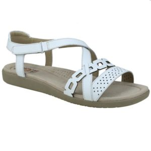 c7042b4a948f8 Earth Spirit Louisville White Leather Slingback Strappy Comfort Sandals