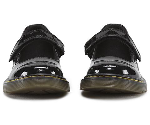 6fbcb43119f4c Dr. Martens Kids Maccy Girls School Shoes Black Patent Leather ...
