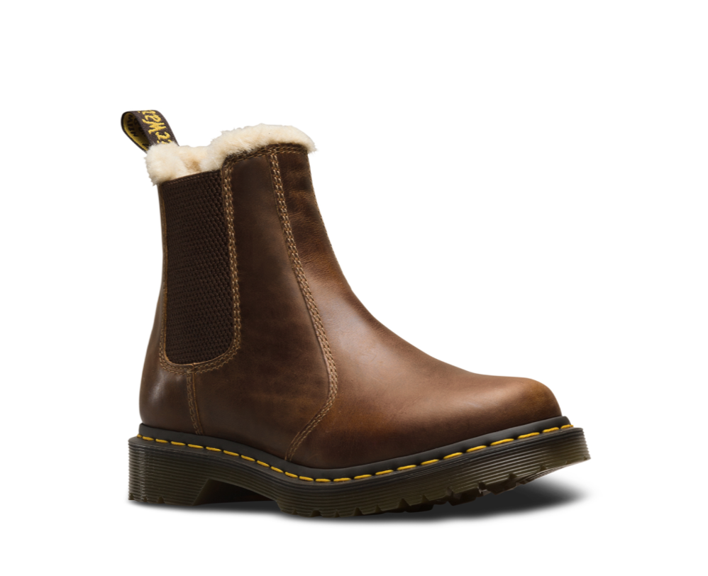 Boots Martens Butterscotch Dealer Lined Dr 2976 Leonore Fur Yfg76ybIv