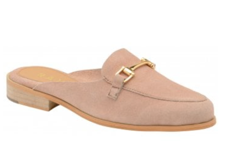 67f2ee5b8336 Ravel Brooker Suede Backless Loafers Mule Blush - Shoe Shuffle