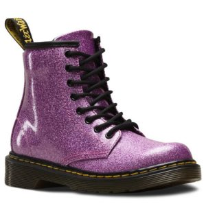 6ad647dc7c5f Dr Martens Kids Delaney 1460 Glitter Dark Pink Zip Lace Up Boots