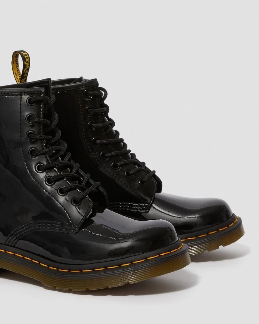Dr Martens 1460 Black Patent 8 eye Boots